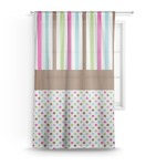 Stripes & Dots Sheer Curtains (Personalized)