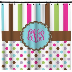 Stripes & Dots Shower Curtain (Personalized)