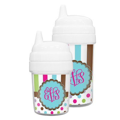 Stripes & Dots Sippy Cup (Personalized)