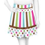 Stripes & Dots Skater Skirt (Personalized)