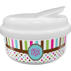 Stripes & Dots Snack Container (Personalized)