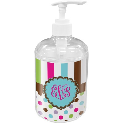 Stripes & Dots Soap / Lotion Dispenser (Personalized)