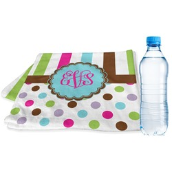 Stripes & Dots Sports & Fitness Towel (Personalized)
