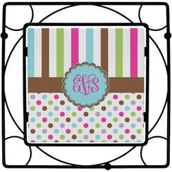 Stripes & Dots Square Trivet (Personalized)