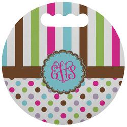 Stripes & Dots Stadium Cushion (Round) (Personalized)