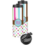 Stripes & Dots Stainless Steel Skinny Tumbler (Personalized)