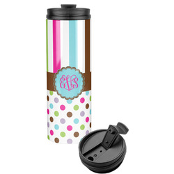 Stripes & Dots Stainless Steel Tumbler (Personalized)