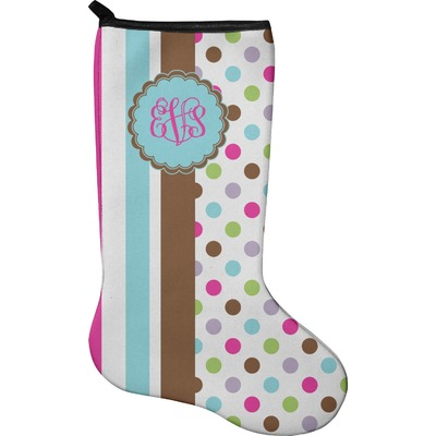 Stripes & Dots Holiday Stocking - Neoprene (Personalized)