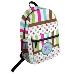 Stripes & Dots Student Backpack (Personalized)