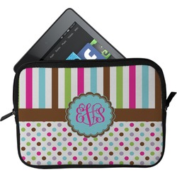 Stripes & Dots Tablet Case / Sleeve (Personalized)