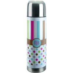 Stripes & Dots Stainless Steel Thermos (Personalized)