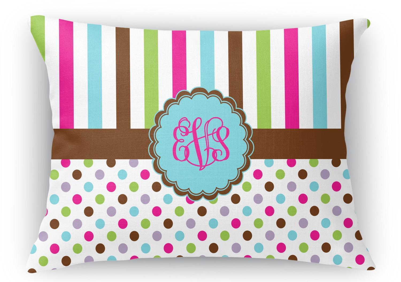 Throw Pillows 12 X 12 : Stripes & Dots Rectangular Throw Pillow - 12