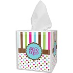 Stripes & Dots Tissue Box Cover (Personalized)