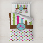 Stripes & Dots Toddler Bedding w/ Monogram