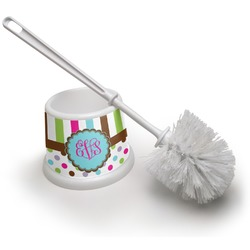 Stripes & Dots Toilet Brush (Personalized)