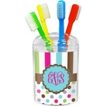 Stripes & Dots Toothbrush Holder (Personalized)