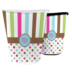 Stripes & Dots Waste Basket (Personalized)
