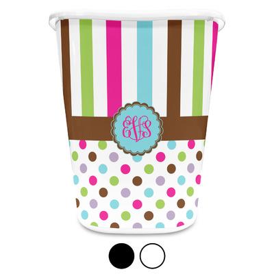 Stripes & Dots Waste Basket (Personalized)