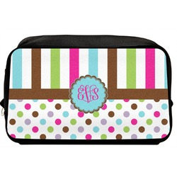 Stripes & Dots Toiletry Bag / Dopp Kit (Personalized)