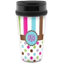 Stripes & Dots Travel Mug (Personalized)