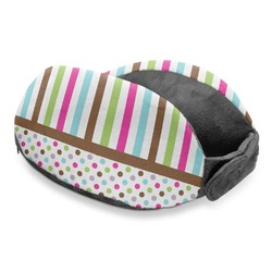 Stripes & Dots Travel Neck Pillow (Personalized)