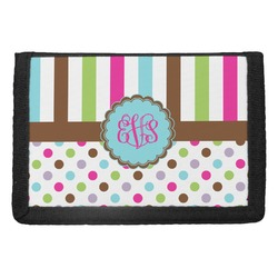 Stripes & Dots Trifold Wallet (Personalized)