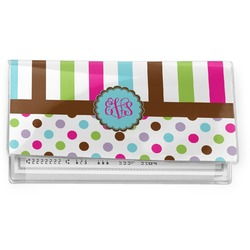 Stripes & Dots Vinyl Checkbook Cover (Personalized)