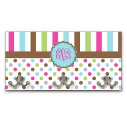 Stripes & Dots Wall Mounted Coat Rack (Personalized)