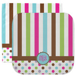 Stripes & Dots Facecloth / Wash Cloth (Personalized)