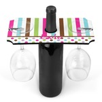 Stripes & Dots Wine Bottle & Glass Holder (Personalized)