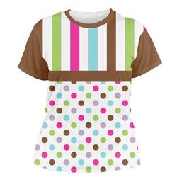 Stripes & Dots Women's Crew T-Shirt (Personalized)
