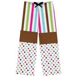 Stripes & Dots Womens Pajama Pants (Personalized)