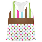 Stripes & Dots Womens Racerback Tank Top (Personalized)