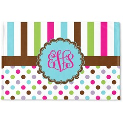 Stripes & Dots Woven Mat (Personalized)