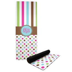 Stripes & Dots Yoga Mat (Personalized)