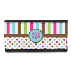 Stripes & Dots Leatherette Ladies Wallet (Personalized)