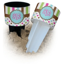 Stripes & Dots Beach Spiker Drink Holder (Personalized)