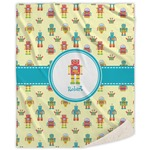 Robot Sherpa Throw Blanket (Personalized)