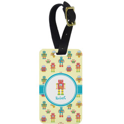 Robot Aluminum Luggage Tag (Personalized)