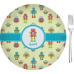 "Robot Glass Appetizer / Dessert Plates 8"" - Single or Set (Personalized)"