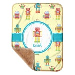 """Robot Sherpa Baby Blanket 30"""" x 40"""" (Personalized)"""