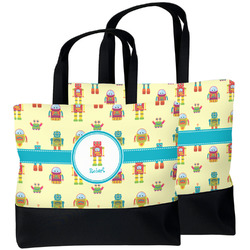 Robot Beach Tote Bag (Personalized)