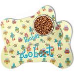Robot Bone Shaped Dog Food Mat (Personalized)