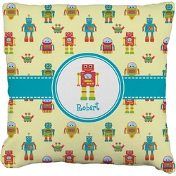 Robot Faux-Linen Throw Pillow (Personalized)