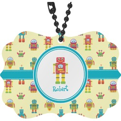 Robot Rear View Mirror Charm (Personalized)