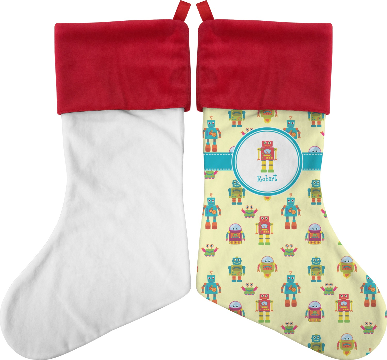 Robot Christmas Stocking (Personalized) - YouCustomizeIt