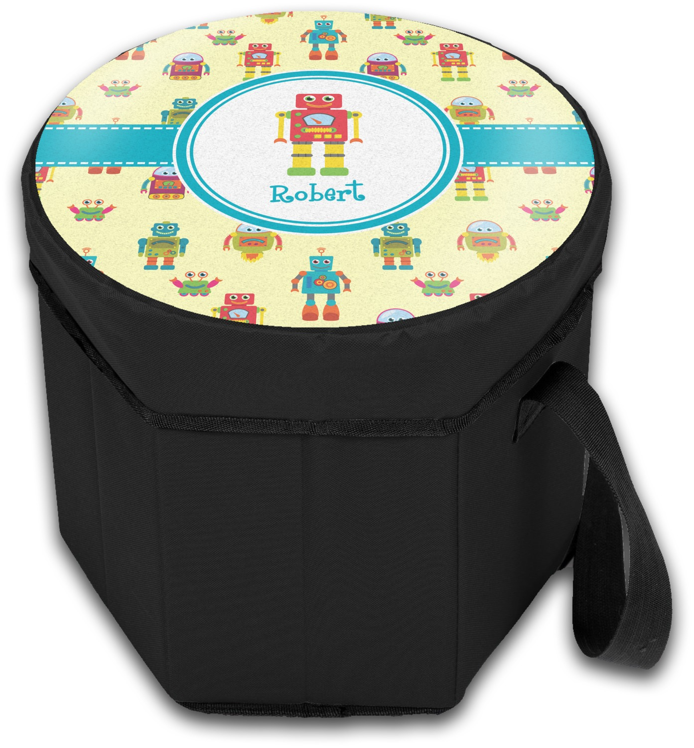 Robot Collapsible Cooler Amp Seat Personalized
