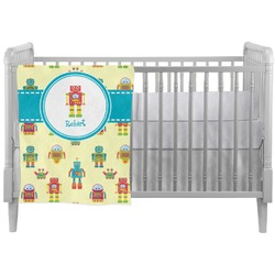 Robot Crib Comforter / Quilt (Personalized)
