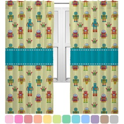 Robot Curtains (2 Panels Per Set) (Personalized)