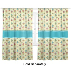"Robot Curtains - 20""x84"" Panels - Lined (2 Panels Per Set) (Personalized)"